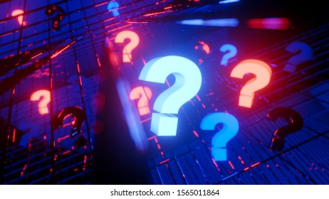 questions and answers faq technical support web site 3D illustration