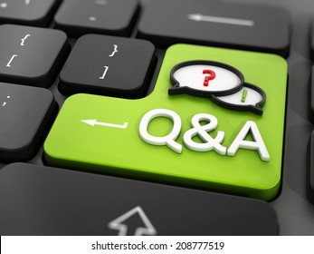 Questions and answers key on the keyboard