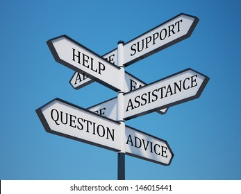 Questions Signpost with Clipping Path