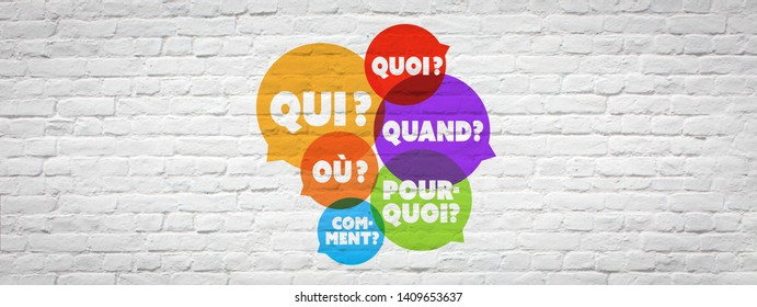 """""""Qui, quand, quoi, où, comment, pourquoi"""": Five Ws and one H in French language"""