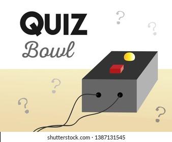 Quiz Bowl Buzzer Illustration with Text