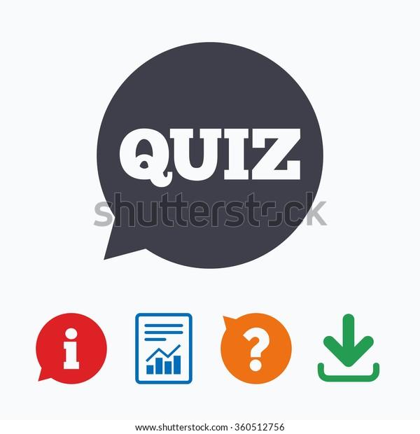 Quiz Speech Bubble Sign Icon Questions Stock Illustration 360512756