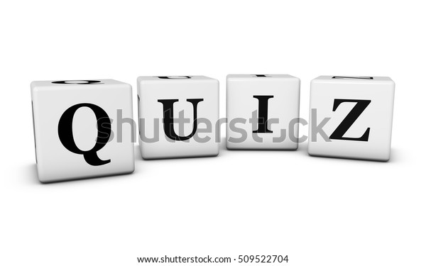 Quiz Word Sign On Cubes 3d Stock Illustration 509522704