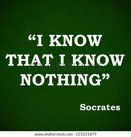 Quote Famous Ancient Philosopher Socrates Motivational Stock