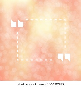 Quote Illustration Poster on pink bokeh lights background. Merry Christmas and Happy New Year party invitation card with abstract snowflakes. Lettering Template. Poster, card, flyer, banners design