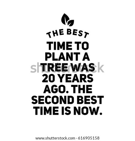 Royalty Free Stock Illustration Of Quote On White Best Time Plant