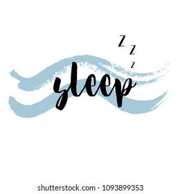 Quote Sleep.  illustration