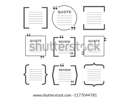 Royalty Free Stock Illustration of Quotes Icon Set Quote