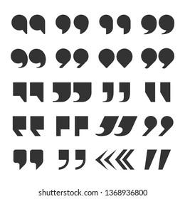 Quotes marks. Quotation marking speech punctuation excerpt commas double comma. Remark button set