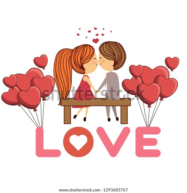 Quotes Sweet Saying Valentines Day Couple Stock Illustration ...