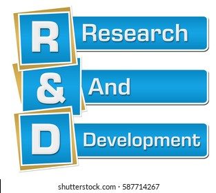 R And D - Research And Development Blue Vertical