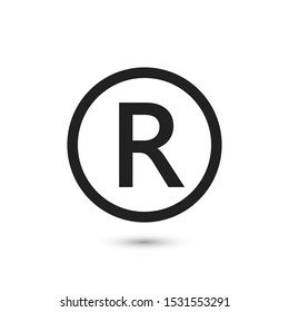 R symbol copyright Illustration image