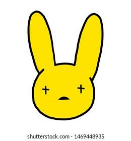 Rabbit representative of Bad Bunny yellow