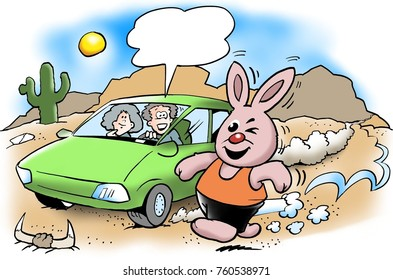 The rabbit runs much stronger than the electric car