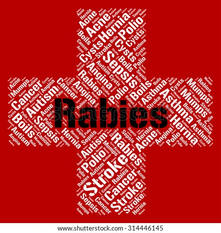 Autism And Ill Health How To Spot >> Rabies Word Showing Ill Health Rabid Stock Illustration Royalty