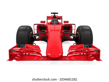 Race Car Isolated (front view). 3D rendering