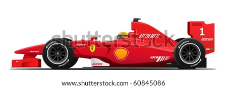 Race car red vector