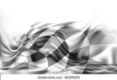race flag, racing  background illustration grey and black