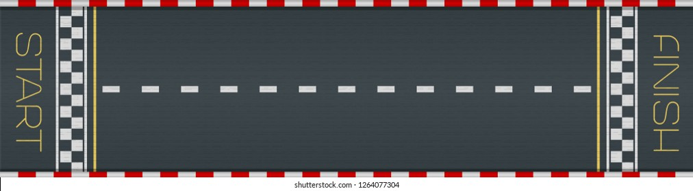 Racing asphalt road. Start and finish concept