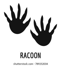 Racoon foot print icon. Simple illustration of racoon foot print icon for web