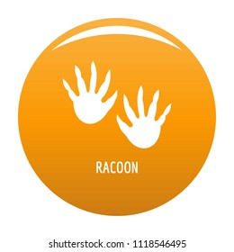 Racoon step icon. Simple illustration of racoon step icon for any design orange