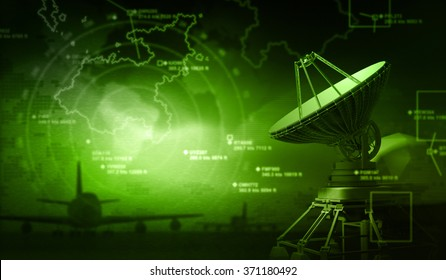 Radar with targets in action