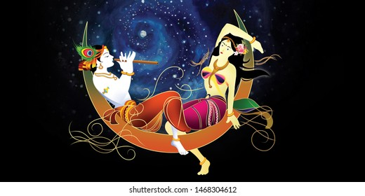 radha krishna images stock photos vectors shutterstock https www shutterstock com image illustration radha krishna home decor painting 1468304612