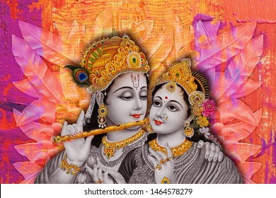 radha krishna religious painting photo 260nw 1464578279