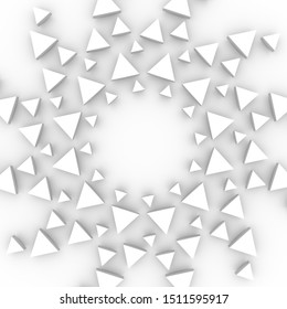 Radial triangles in circle form. Fireworks explosion background. Circular design element. Abstract geometric star rays. Design element for medical, treatment, cosmetic emblem. 3D rendering.