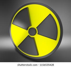 radiation icon illustration 3d rendering
