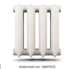 Radiator section isolated on white background. 3d render image.