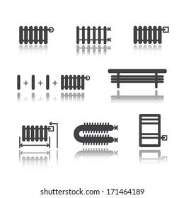 Radiators icons