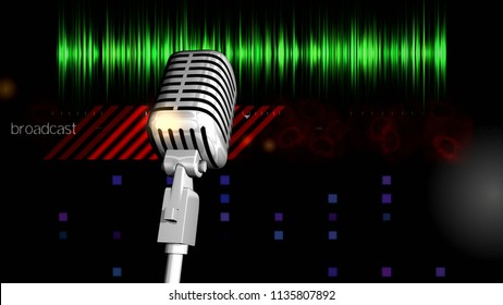 Radio online. Radio. Background for video editing, name, logo...