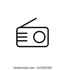 Radio outline icon. Simple illustration for UI and UX, website or mobile application on white background