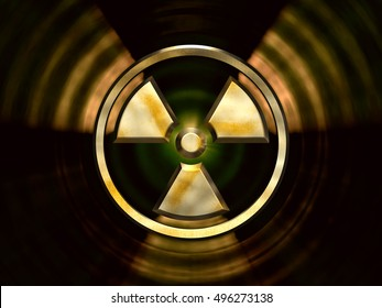 Radioactivity 3D Symbol