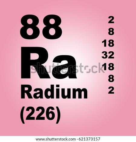 Radium Periodic Table Elements Stock Illustration 621373157