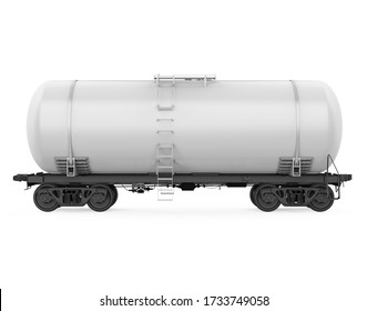 Railroad Tank Car Isolated. 3D rendering