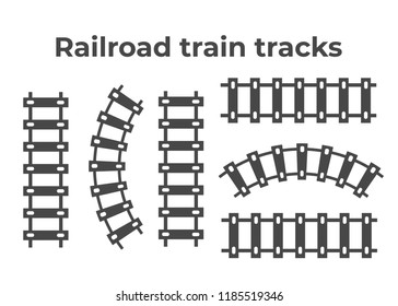 Railroad train tracks . Train tracks railroad icon