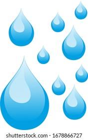 Rain falling, water drop icon