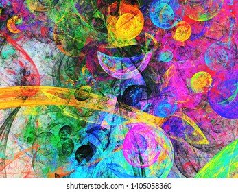 rainbow abstract fractal background 3d rendering