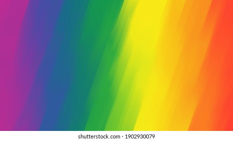 Rainbow background, gay pride, LGBTQ themed multiple colors with blurred lines, striped, pattern background.