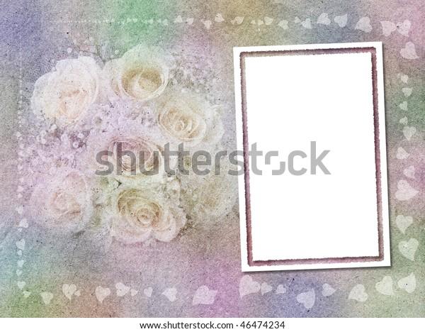 Rainbow Background Wedding Theme Stock Illustration 46474234