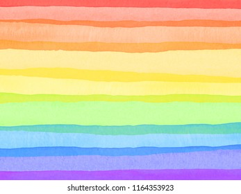 A rainbow colored, overlapping, horizontal, watercolor striped background.