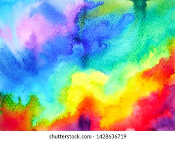 rainbow colorful background watercolor painting illustration hand drawn design