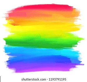 Rainbow colors stripes background isolated on white background