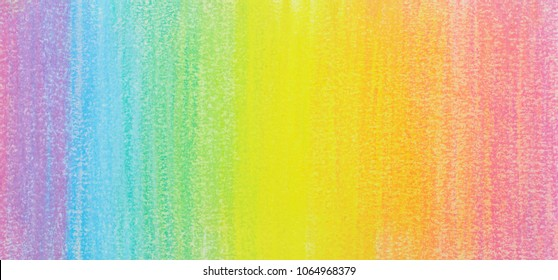 Rainbow crayon painted, texture