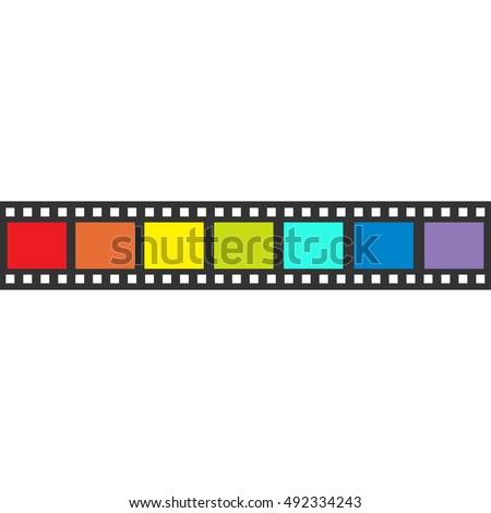Rainbow Flag Film Strip Frame Straight Stock Illustration 492334243 ...