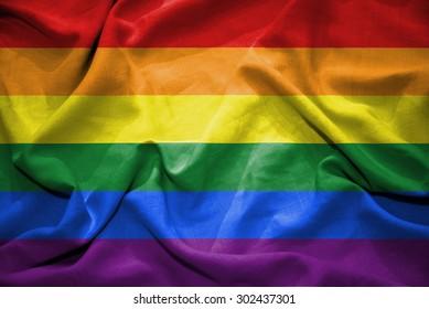 Rainbow flag. illustration