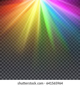 Rainbow glare spectrum with gay pride colors illustration. Spectrum color shiny, bright abstract spectrum light