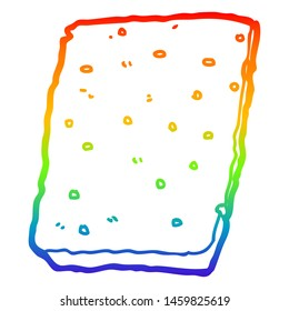 rainbow gradient line drawing of a cartoon flapjack